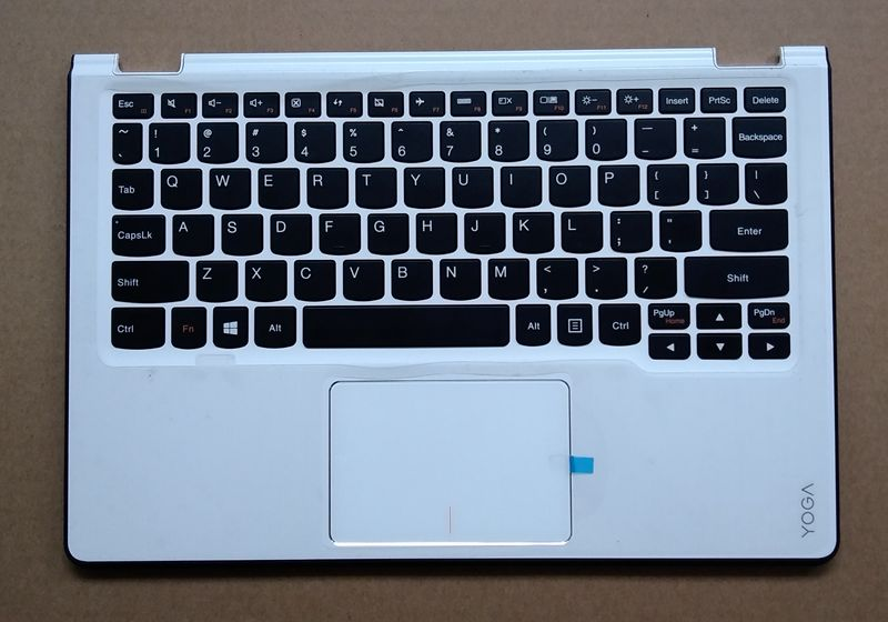 New Original For Lenovo Yoga 3 11 Palmrest Top Cover Upper Case + keyboard With Touchpad White AM19O000800