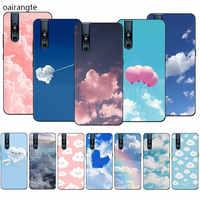 Cielo de la caja del teléfono de silicona azul y nubes para VIVO V15 V11 Pro V9 V7 V5 Y17 Y55s Y69 Y71 Y81s Y91C Y93 Y66 X9s-funda completa