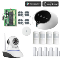Etiger GSM WIFI Alarm System Wireless IP Camera Monitoring Burglar Intruder For House Anti Theft Smart