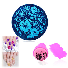 60 Designs Nail Art Plate Stamp Stamping Set Round Stainless Steel DIY Polish Print Manicure Stencil Template