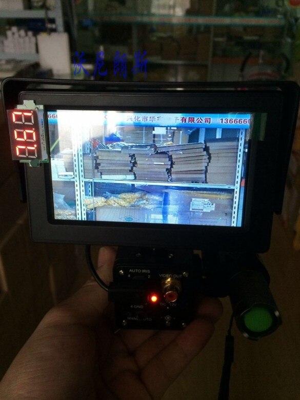 Brand New DIY Night Vision Scope with Monitor 30m 850nm Zoom 200m-300m Flashlight for Car Day&Night Dual Use стоимость