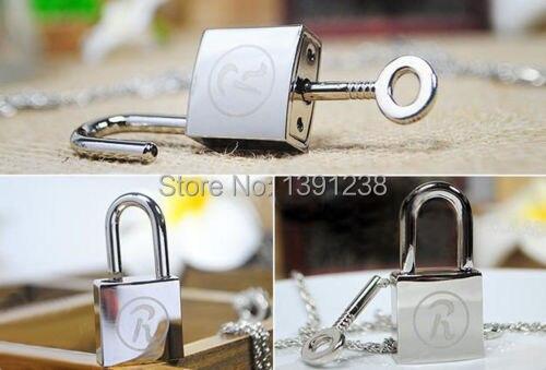 NANA Ren Lock + Key Necklace Cosplay Ai Yazawa Anime Punk Lovers Couples Jewelry