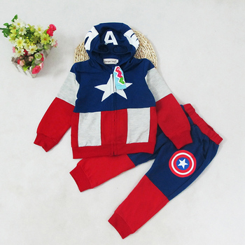 halloween clown costume clothing for children classic cosplay suit set for kids boys kids christmas stage performance wear Captain America Superhero Cosplay Clothing  Halloween Party Costume for Kids Top Pants Children Boys Cosplay Custome