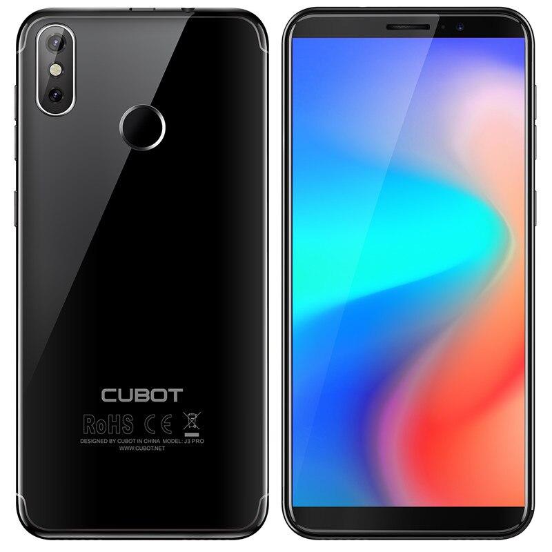 Cubot J3 プロ 18:9 5.5 ''Screen Android 行く MT6739 クアッドコア 1 ギガバイトの RAM 16 ギガバイト ROM スマートフォン 2800mAh デュアルバックカメラ 4 グラム指紋  グループ上の 携帯電話 & 電気通信 からの 携帯電話 の中 2