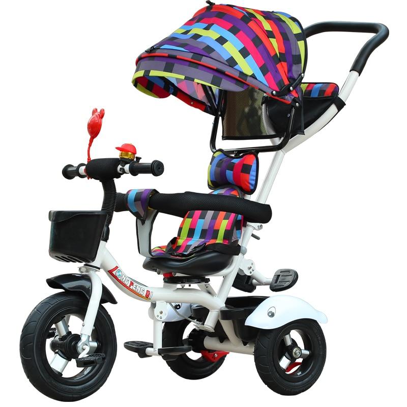 Siège pivotant bébé Tricycle vélo enfant vélo poussette 2 en 1 trois roues bébé chariot Portable enfant chariot landau Trike 6M-6Y - 6