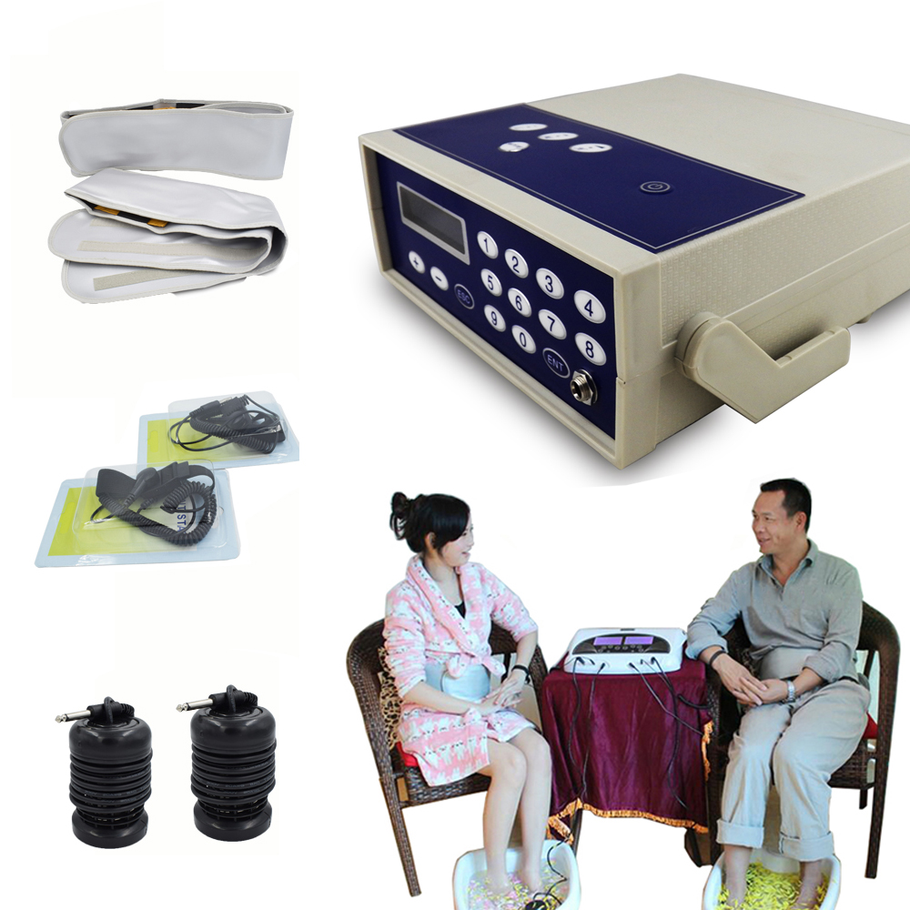 ionic foot detox machine health care ion cleanse detox foot spa bath device far infrared belt