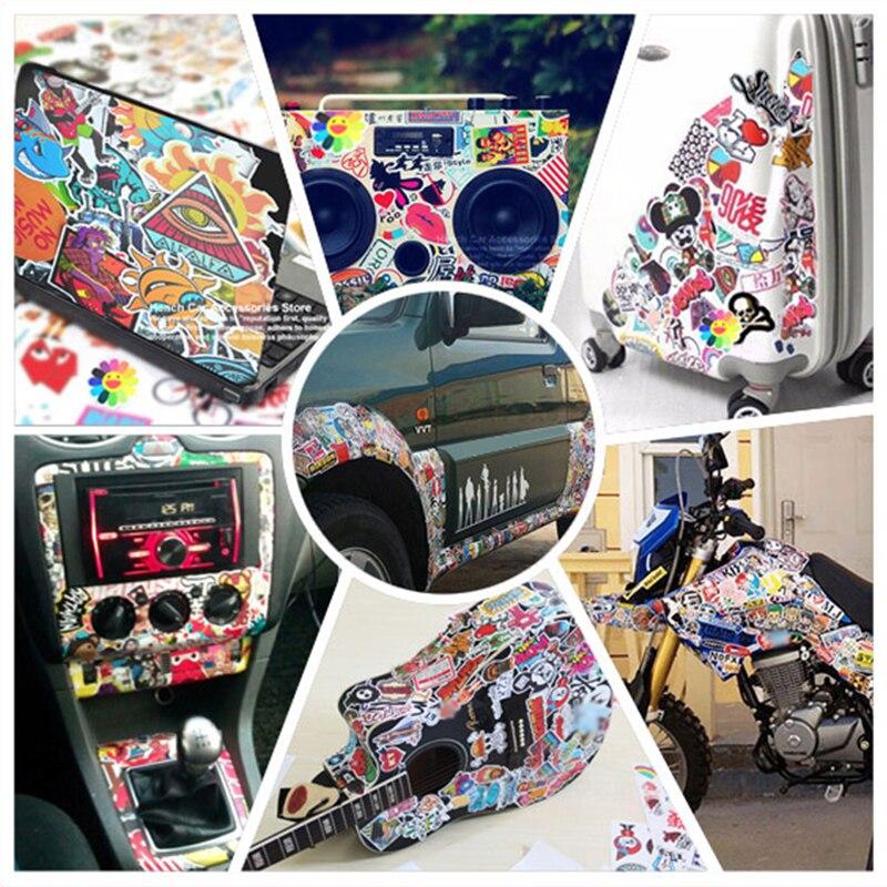 50 шт. забавные автомобильные наклейки s на мотоциклетный чемодан домашний Декор чехлы для телефонов и ноутбуков DIY виниловые наклейки Bomb JDM д...