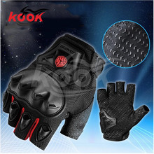 free shipping half finger motorcycle gloves ATV Protective Gears motocross racing gloves Waterproof Motorbike men gloves parts