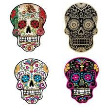 1 шт наклейка в виде черепа ужасов цветов мексиканского calaver