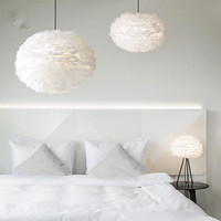 and romantic bedroom of children room sitting room is contracted and contemporary personality Nordic light feathers