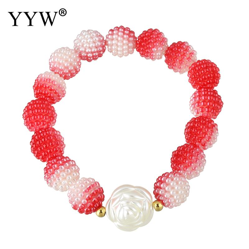elegant Resin Bracelets Stainless Steel Flower gold color plated hot sale new women fashion jewelry charm Bracelets for woman