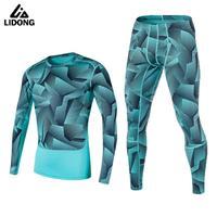 2017 Newest Compression Running Tight Set Men Basketball Football Training Underwear Sport Yoga Fitness Joggers Shirts