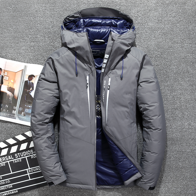Top Quality White Duck Down Jacket Men Warm Hooded Mens Winter Parkas Thick Men's Jackets Down Coat Casaco Masculino JK-3068
