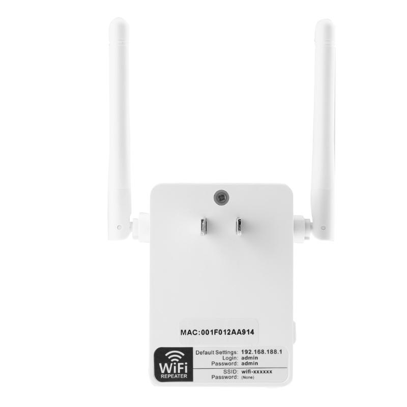 US Wall Plug WiFi Wireless Receiver Router Repeater External Antenna, 300Mbps Wireless Repeater Router for Home Hotel Network