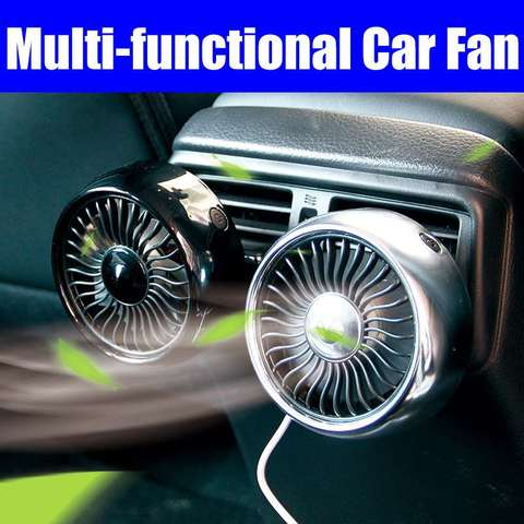 Air outlet /Base mode 360 Degree All-Round Adjustable Car Auto Air Cooling Fan 3 Gears Low Noise Car Auto Cooler Air Fan Pakistan
