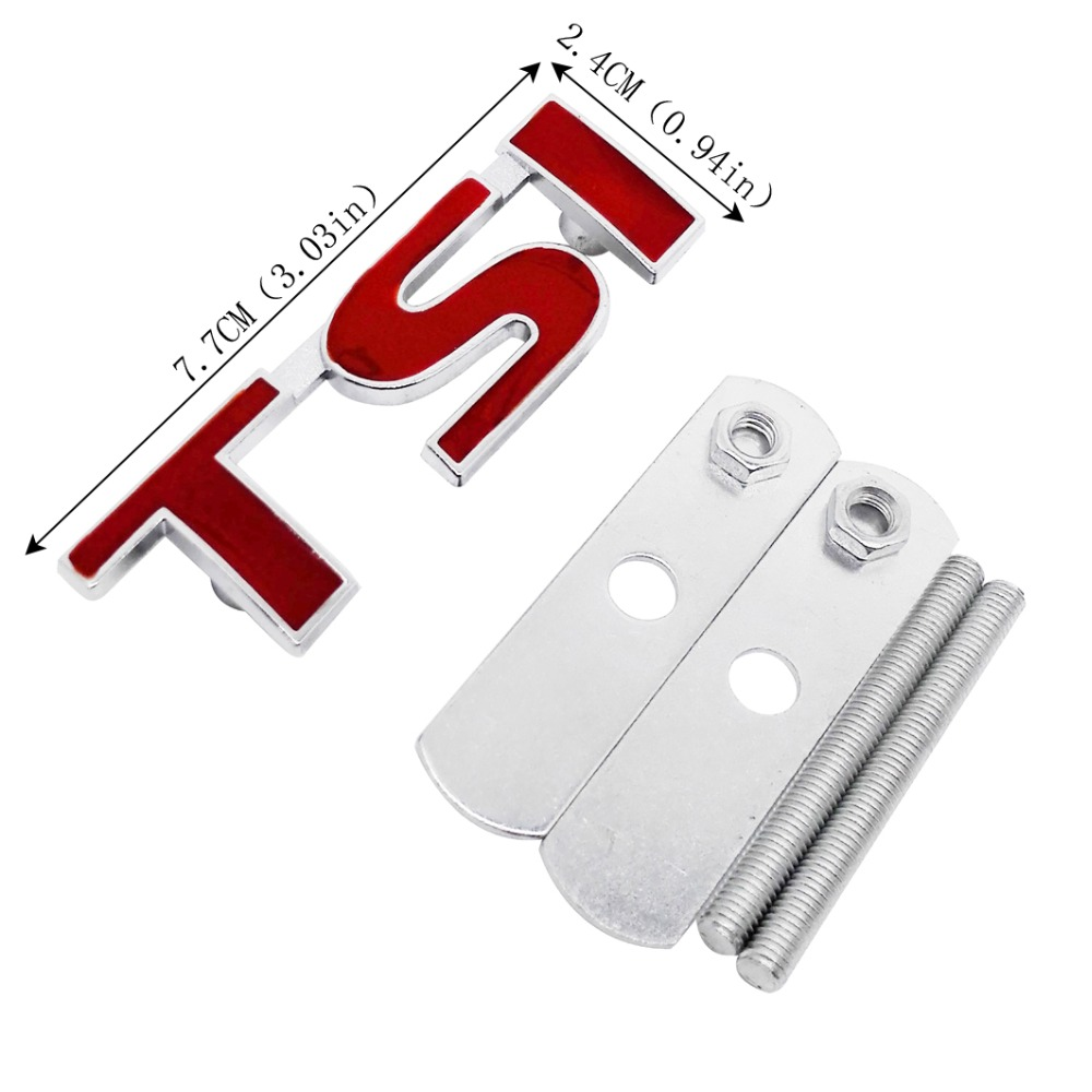 TSI Car Front Grille Emblem For vw Volkswagen Polo Golf 5 7 Tiguan Passat b5 b6 Jetta Bora Touareg Vento Auto Sticker Styling in Car Stickers from Automobiles Motorcycles
