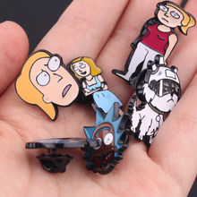 Libera La Nave Spille g Rick E Morty Dello Smalto Spille Rick E Moti Spilli Fibbia Cetriolo Cartoon Spilla Distintivo Spilla su il Collare Broche(China)