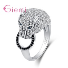 High Quality 925 Sterling Silver Geometric Animal Ring With Full AAA Cubic Zirconia For Wom
