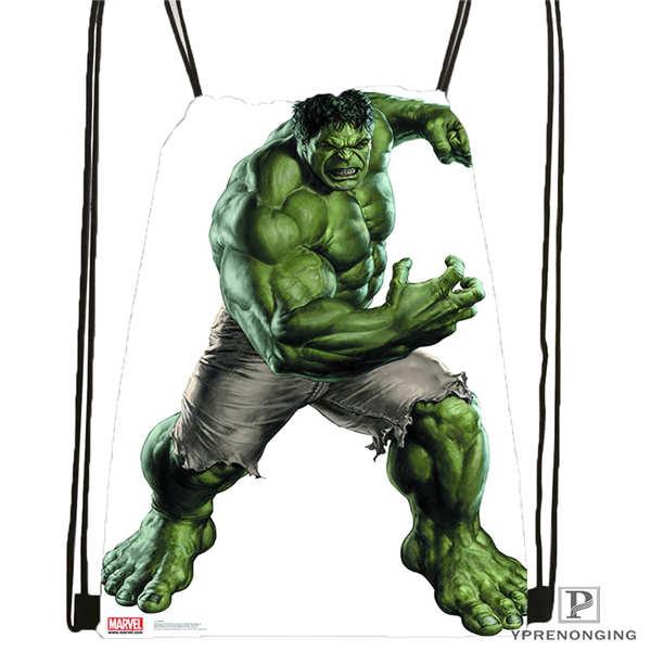 Custom Incredible-Hulks-  Drawstring Backpack Bag Cute Daypack Kids Satchel (Black Back) 31x40cm#2018611-2(9)