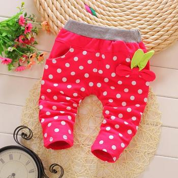New Korean design baby trousers fashion cute autumn infant girls knit pants baby child trousers size 75-95 Baby Pants