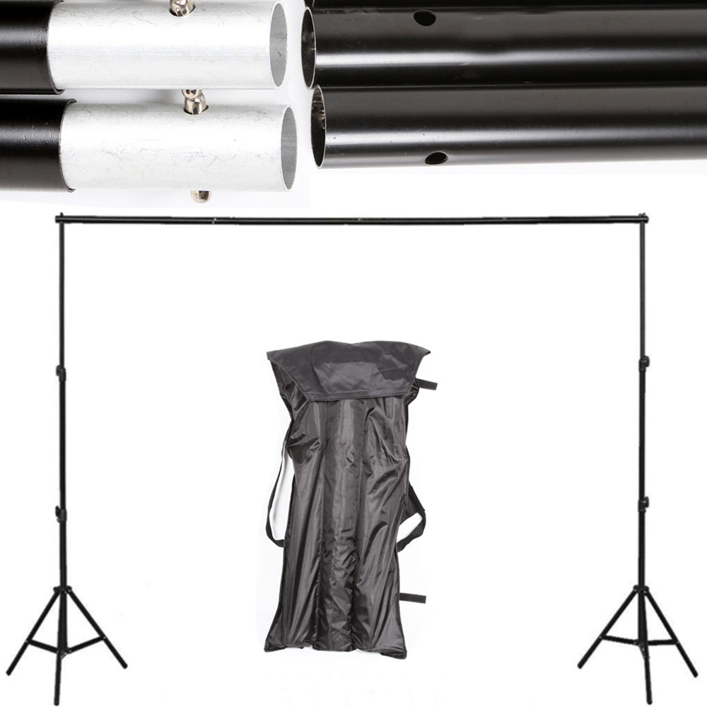 10Ft PRO Adjustable Photography Photo Muslin Background Support Stand Backdrop Crossbar Kit photo studio 2 6 3m adjustable background support stand photo backdrop crossbar kit photography equipment