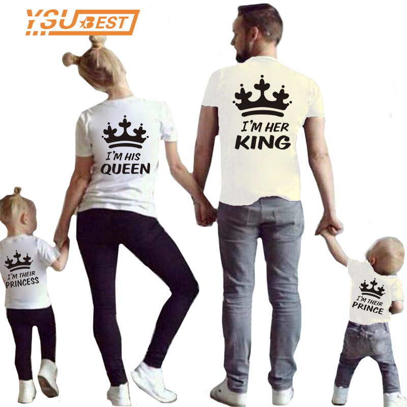 Summer Matching Family Clothes Mother kids T-shirt Boys Crow