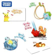 TAKARA TOMY Original 4pcs/set Capsule Toys Pokemon Pikachu C