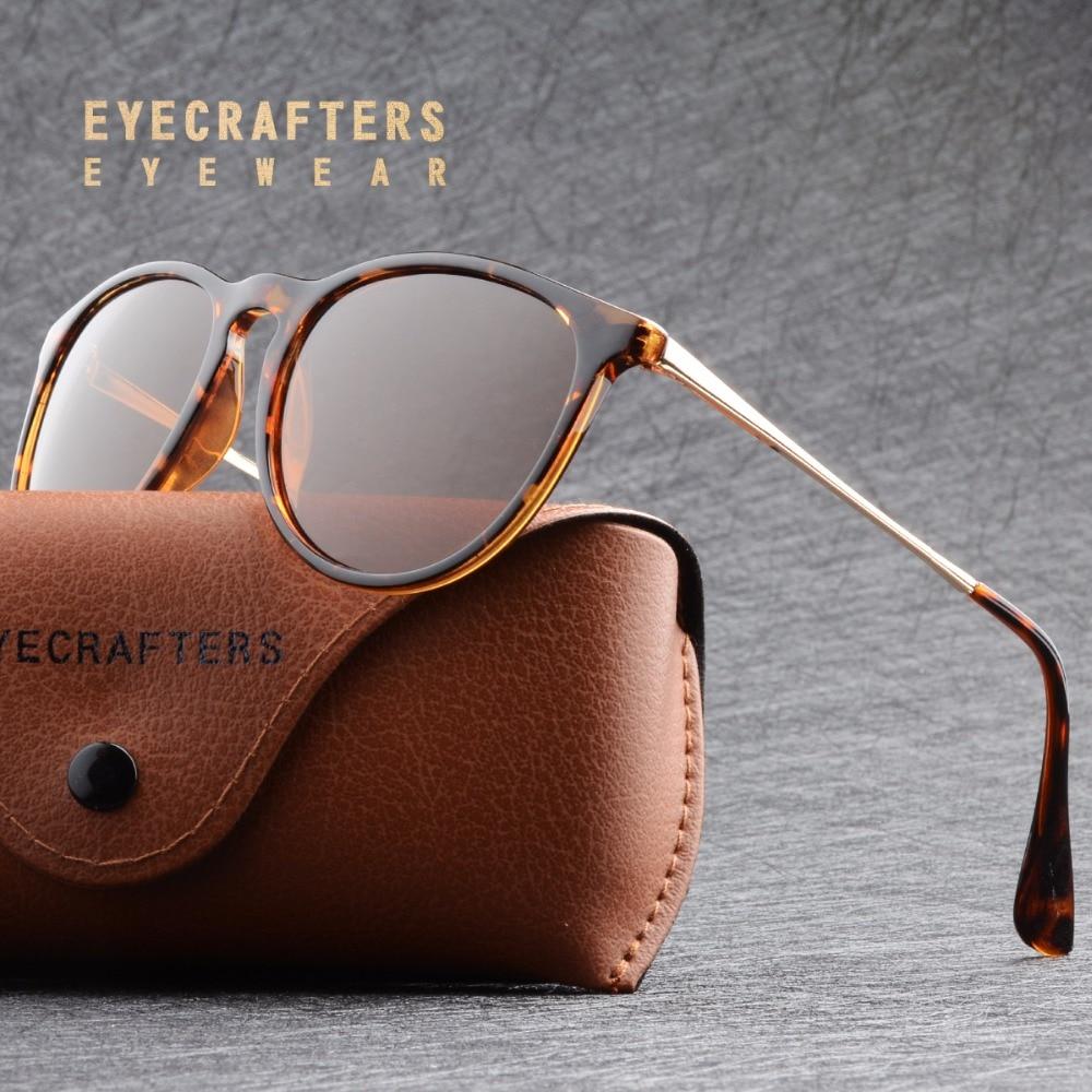 New Brand Designer Gradient Polarized Sunglasses Womens Retro Vintage Cat Eye Sunglasses Fashion Mirrored Erika Sunglasses 4171