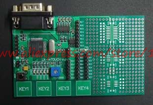 Free shipping PIC16F1937 capacitor type touch button PIC learning board PIC development board