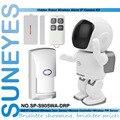 SunEyes SP-S905WA-DRP 1.3MP Wifi Alarme Robô Câmera IP Sem Fio HD com 1 pcs Sensor de Porta + 1 pcs Controle Remoto + 1 pcs Sensor PIR