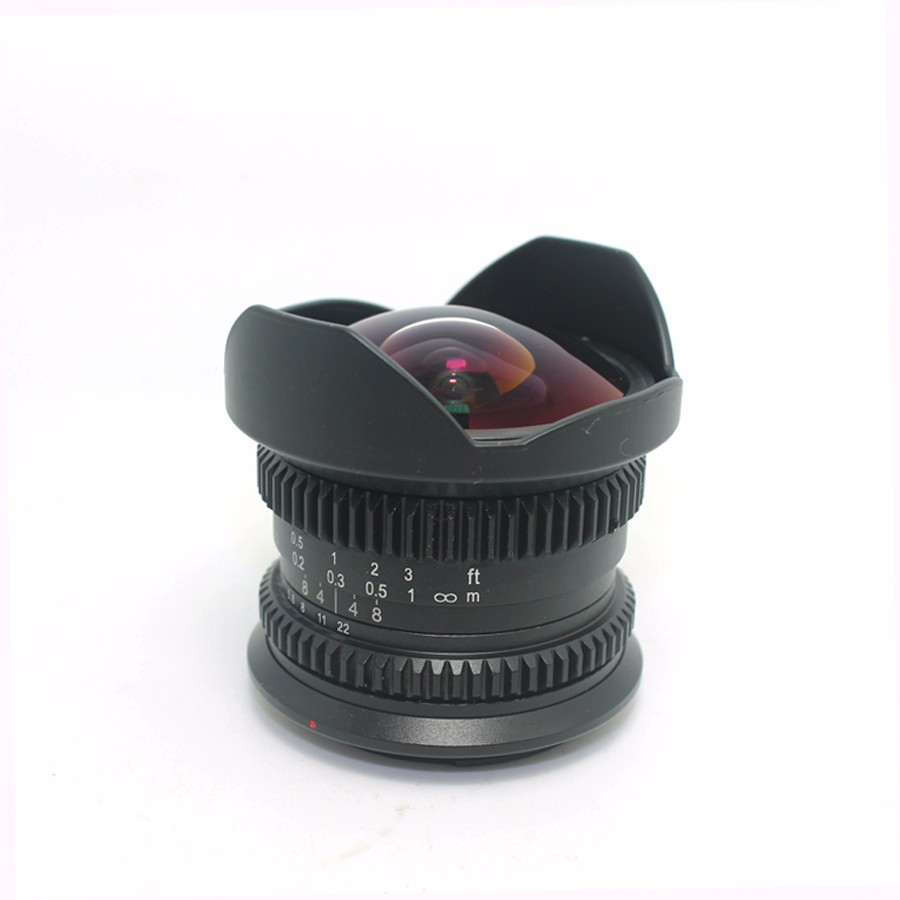 8mm F2.8 Ultra Wide Angle Fisheye Lens for Sony NEX E-mount A7 A6300 A6000 /Macro 4/3 M4/3 GH4 BMPCC /Fuji FX DSLR Camera 3