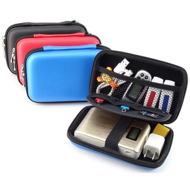 Alat Elektronik Mudah Alih EVA Storage Bag untuk HDD Power Bank Pemacu Imbas USB Aksesori Digital Penganjur Kes Pouch