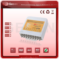 original Gecen 17 in 1 Waterproof Diseqc Switch with 16 SAT inputs and 1 ANT input Model GD 1611