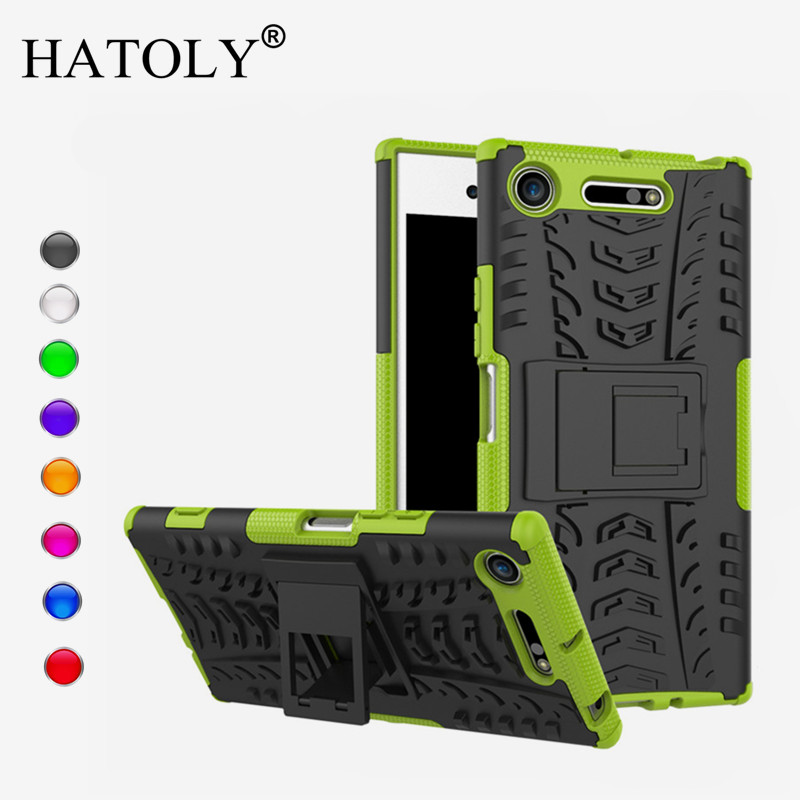 For Cover Sony Xperia XZ1 Case Anti knock Heavy Duty Armor Cover For Sony XZ1 Silicone Phone Bumper Case For Sony Xperia XZ1 in Fitted Cases from Cellphones Telecommunications