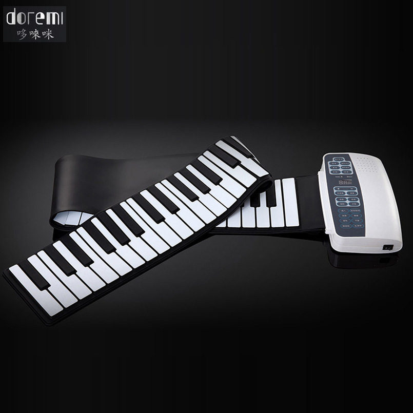 DoReMi Professional Smart Folding Piano 88-keys Silicone Hand-rolled Portable Electronic Piano Adult Beginners S-884 doremi intelligent professional hand rolled electronic piano 49 keys children silicone folding portable piano s2049