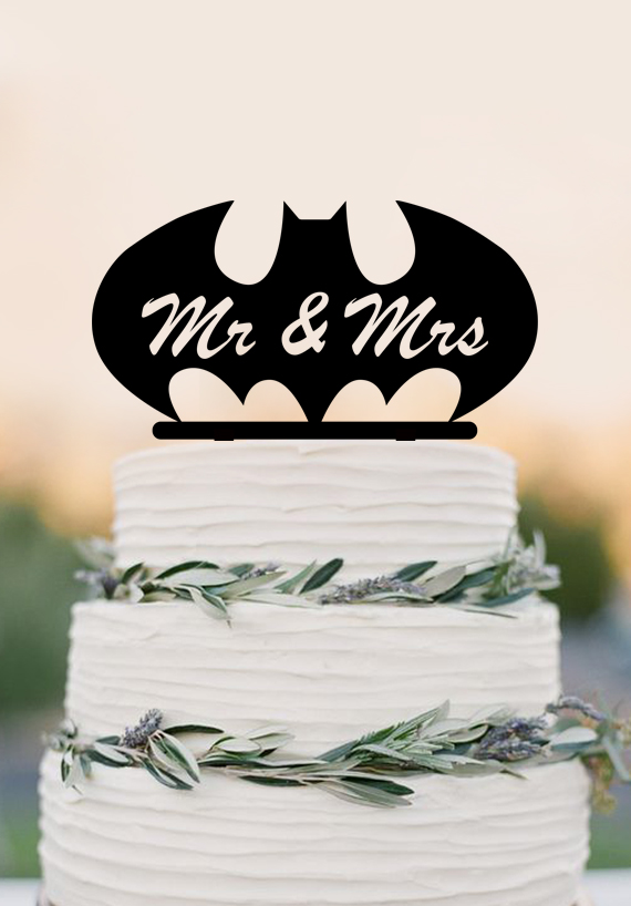 Mr Mrs wedding cake topperbat custom cake topperfunny wedding