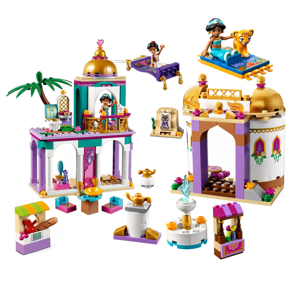 2019 Fairy Princess Aladdin Palace Adventures Exotic Palace Building Blocks Bricks Juguetes City Assembly Toys For Children