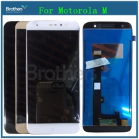 XT1663 LCD For Motorola Moto M XT1662 LCD Screen Display Touch Digitizer Assembly Replacement For MOTO M Display Smartphone