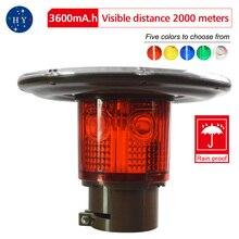 Солнечный энергетический предупреждающий светильник s, высокомощный многоцветной высокочастотный сигнальный светильник с сигналом, светильник для препятствий s, морские мигающие лодки