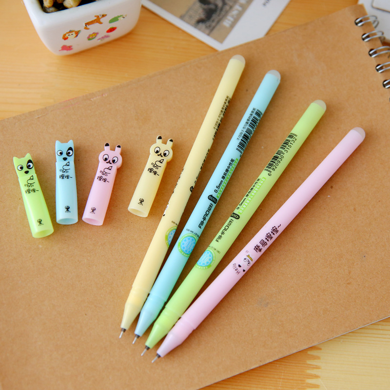 1 Pcs Cute Kwaii Cat Dog Animal Korean Aihao Erasable Gel Pens Blue Black Ink With Gel Pen Eraser School Supplies Stationery veterinary and human 2 14g dl 1 000 1 060 ri dog 1 000 1 060 ri cat clinical dog and cats refractometer rhc 300atc