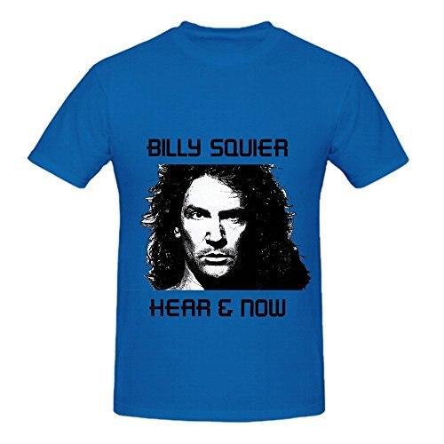 Билли Squier услышать теперь рок мужские о Средства ухода за кожей шеи Футболка с принтом
