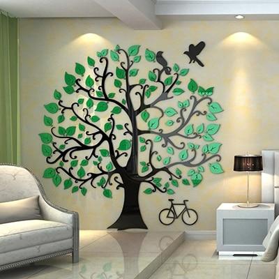 Creativo flor vid DIY habitación de los niños dormitorio hogar sala de estar TV Fondo decoración de pared 3D acrílico pared pegatina - 2
