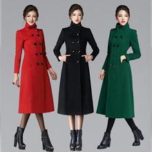 2017 New Autumn Winter Women cashmere blend coat wool Jackets thick OutWear plus size Parka long