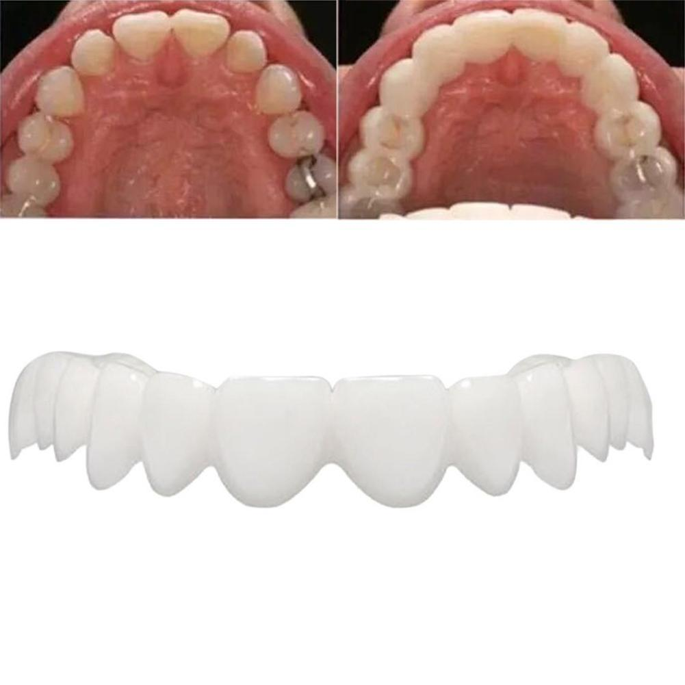 Whitening Perfect Smile Veneer Down Teeth Fake Tooth Cover On Smile Instant Teeth Cosmetic Denture Care for Upper One Size Fits