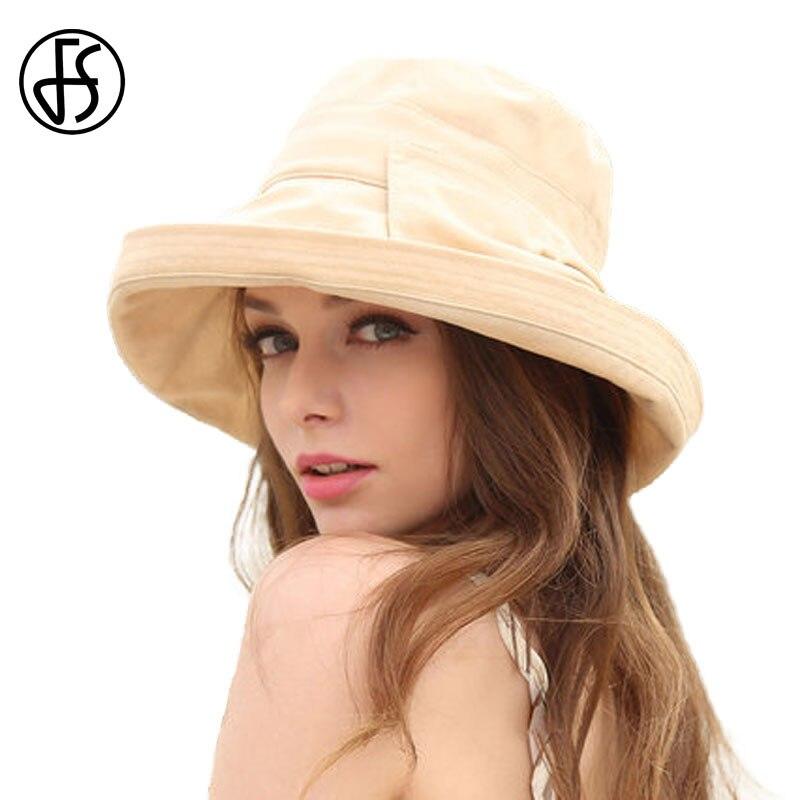 Summer Beach Hats For Women 2017 Fashion Cotton Linen Sun Bucket Hat Wide Brim Floppy Caps For Womens Elegant Bow Basin Cap