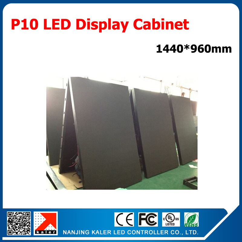 Kaler Video Card Control P10 LED Display Screen 1.44m*0.96m Super Bright Outdoor Video Wall P10 LED Signboard Waterproof