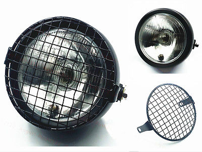 Grill Retro Vintage Motorcycle Headlight Cafe Racer Old School CB CG GN XL Rat