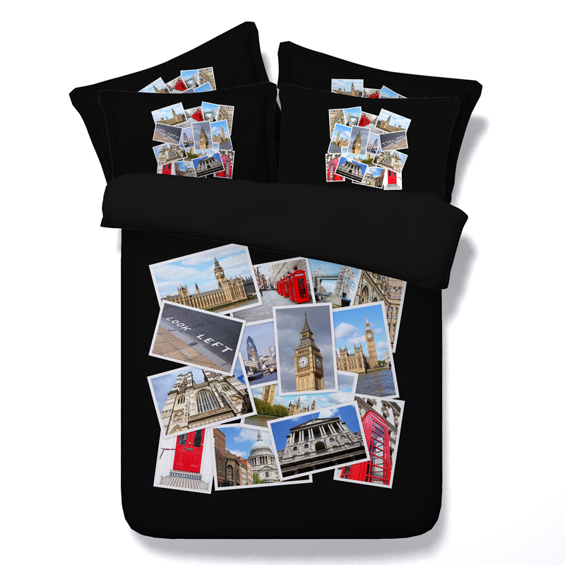 Learned Big Ben/tower Bridge 3d Printing 4pcs Bedding Set Without Filler Twin/full/queen/king/super King Size Free Shipping Via Express Refreshing And Enriching The Saliva Home & Garden