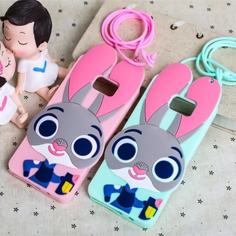 For Samsung Galaxy Note2 Note3 Note4 Note5 Phone Cases Crazy City 3D Cartoon Silicon Zootopia Rabbit Judy Cover Fundas Coque
