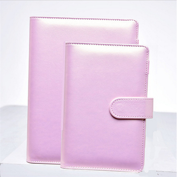 цена Harphia  A5 A6 Notebook Gold-pink filofax PU leather spiral loose leaf refillable travel journal planner agenda notepad binder онлайн в 2017 году
